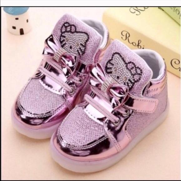 59da689e66f0f Shoes | New Hello Kitty Sneaker Baby Girl Led Light Up | Poshmark
